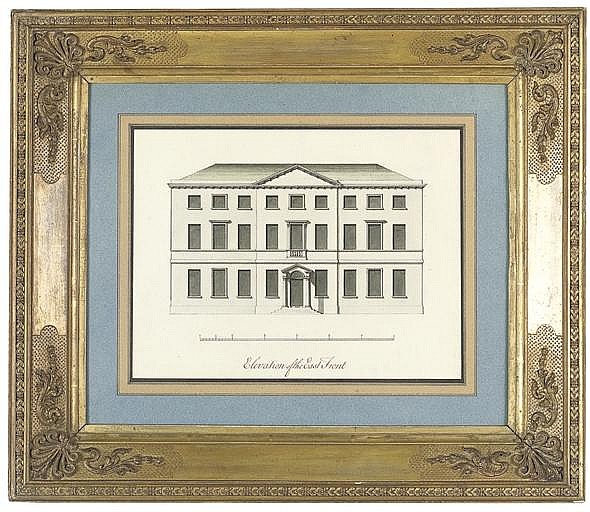 Elevation for the east front, thought to be for Enville Hall, Staffordshire