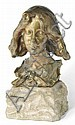 A PATINATED BRONZE BUST BY PIERRE FÉLIX FIX-MASSEAU , Pierre Fix-Masseau, Click for value