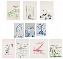 ANDO TADAO (B. 1941) Architectural Sketches (A Set of 10)