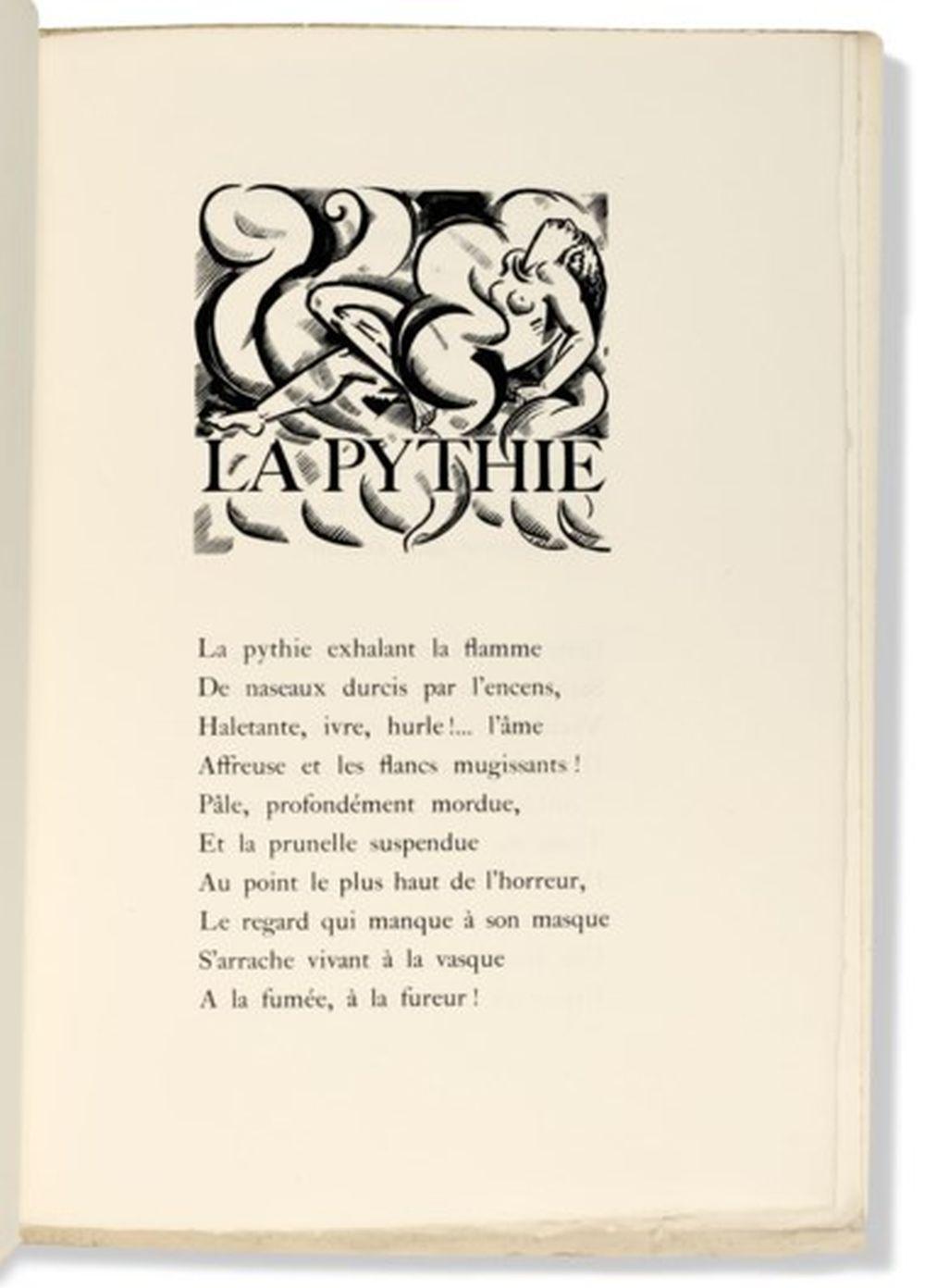 VERA, Paul (1882-1957) -- VALÉRY, Paul (1871-1945). Odes. Paris : Éditions de la Nouvelle Revue Française, 1920. Édition originale. Exemplaire de tête