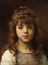 Aleksei Harlamoff (1840-1925) - Girl in a brown tunic