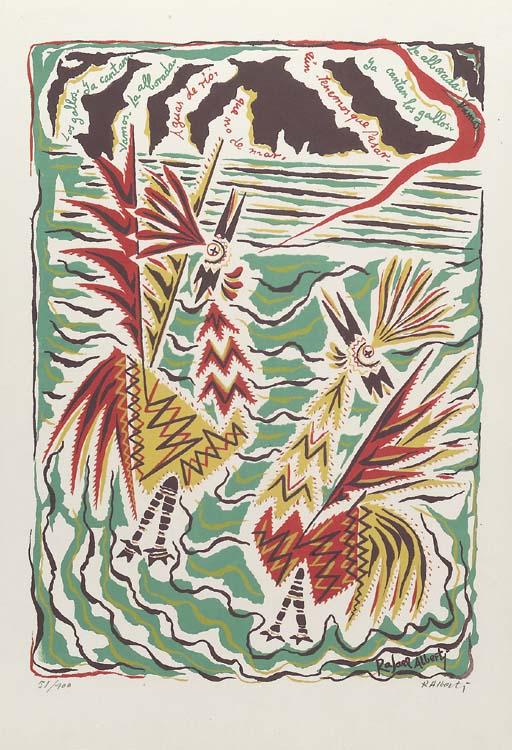 ALBERTI, Rafael. <I>Diez Liricografias</I>. Buenos Aires: Galeria Bonino, 1954.