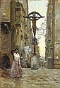 Street scene in Naples, Vincenzo Migliaro, Click for value