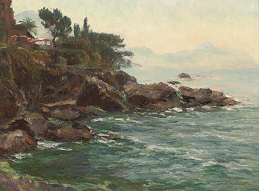 On the rocky shore, Nervi, near Genoa
