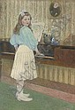 The first piano lesson, Charles Dehoy, Click for value