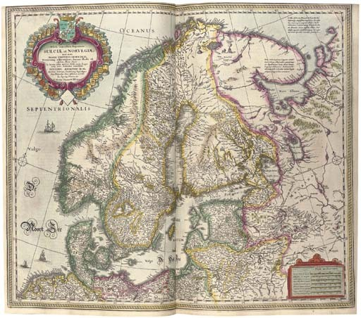 MERCATOR, Gerard (1512-1594) and Henricus HONDIUS (1597-1651). <I>Atlas ou representation du</I>