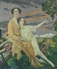 Portrait of Mrs William Younger and her daughter Charlotte Mary