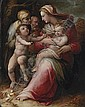 The Holy Family with Saint Elizabeth and the Infant Saint John the Baptist, Giovanni Battista Naldini, Click for value
