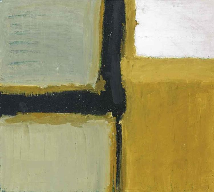 Grey and Ochre Composition