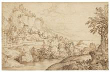 Giovanni Francesco Grimaldi, Il Bolognese (Bologna 1606-1680 Rome) A lands