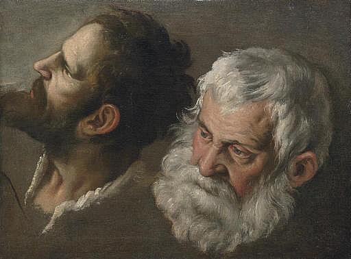 Head studies of two men
