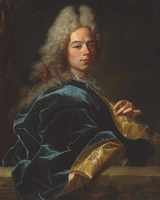 Portrait of Jean-Louis de Roll-Montpellier, half-length, in a blue and gold robe