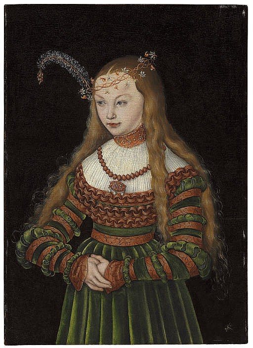 Portrait of Princess Sybille of Cleves, Wife of Johann Friedrich the Magnanimous of Saxony