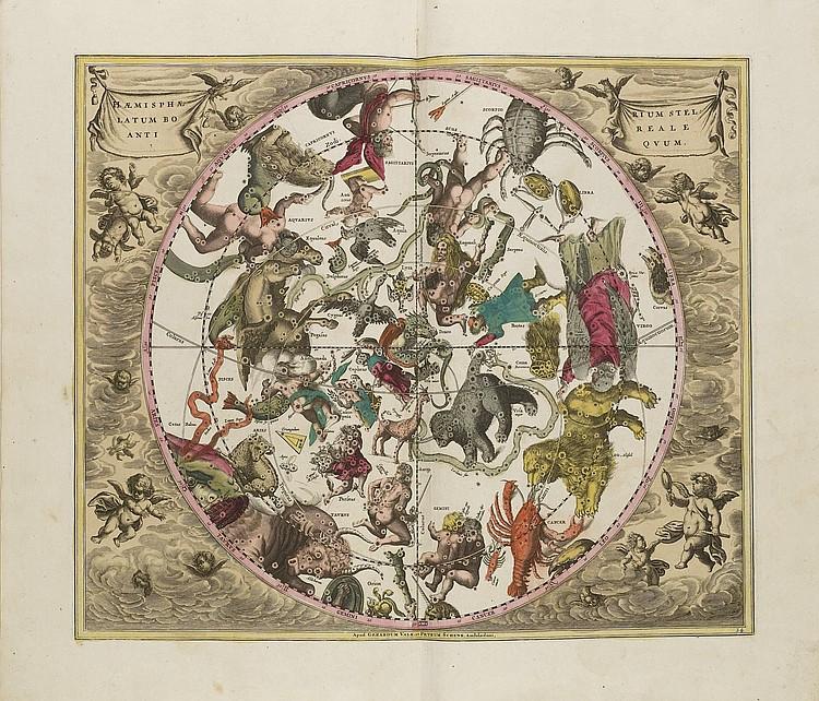 CELLARIUS, Andreas (1596? - 1665).  Harmonia Macrocosmica seu Atlas Universalis et Novus.  Amsterdam: Peter Schenk & Gerard Valk, 1708.