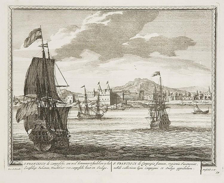 SCHENK, Peter (1660-1711).  Hecatompolis, sive Totius orbis Terrarum Oppida Nobiliora Centum; exquisite collecta atque eleganter depicta.  [Amsterdam: P. Schenk], 1702.