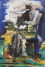 Deux personnages au violoncelle