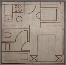 MARTINO GAMPER (B. 1971) - A unique 'House Plan' carpet, 2010
