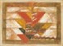 AKKITHAM NARAYANAN (B. 1939) Several Triangles oil on canvas 38 3/8 x 51 ¼