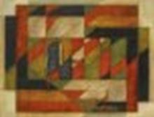 AKKITHAM NARAYANAN (B. 1939) Green and Red oil on canvas 59 ¼ x 77 in. (150