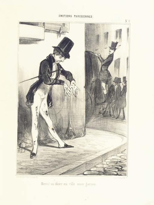 DAUMIER, Honoré (1808-1879). Emotions Parisiennes. --Vulgarités. Paris: Aubert