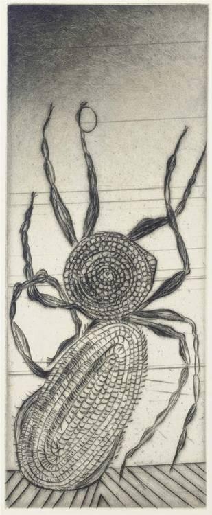 BOURGEOIS, Louise (1911). Ode à ma mère. Neuf pointes sèches originales. Paris: Editions