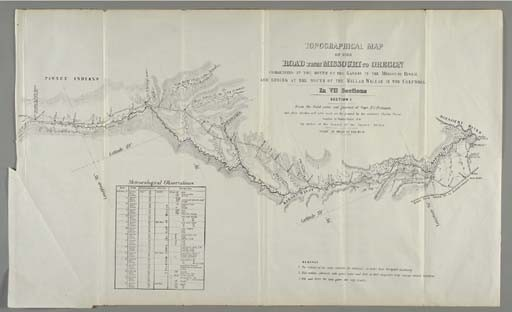 PREUSS, Charles (1803-1854). <I>Topographical Map of the Road from Missouri to Oregon Commencing</I>