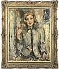 Portrait of the Hon. Mrs. Angela Lascelles, half-length, in a black trimmed jacket, Joseph Oppenheimer, Click for value