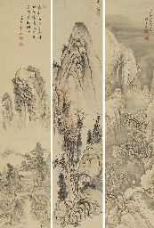 Minagawa Kien (1743-1807), Yosa Buson (1716-1784) and Ike Taiga (1723-1776)