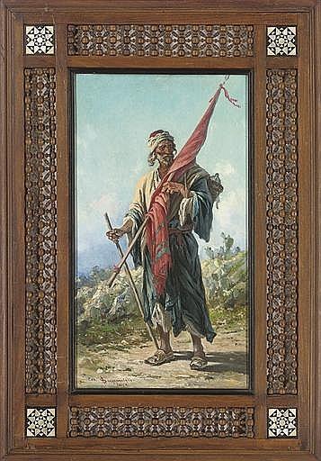 A Moorish flag bearer