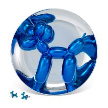 JEFF KOONS (B. 1955) Balloon Dog (Blue) metallic porcelain multiple in blu