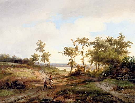 Figures in a summer landscape