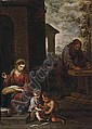The Holy Family with the Infant Saint John the Baptist, Bartolome Esteban Murillo, Click for value