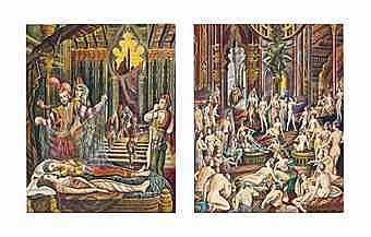 Ramon Lopez Morello (Spain, b. 1903) Scenes from the Harem (two works)