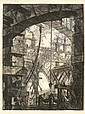 PIRANESI, Giovanni Battista (1720-1778). <I>Carceri d'invenzione</I>. [Rome: G.B. Piranesi, mid-, Giovanni Battista Piranesi, Click for value