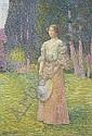 Femme au jardin, Hippolyte Petitjean, Click for value