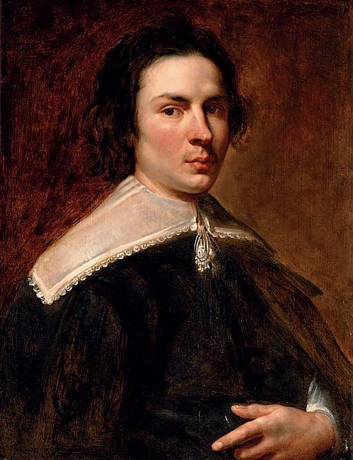Portrait of a gentleman, half-length, in a black coat and lace collar