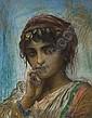 Portrait d'une jeune femme, Felix Barrias, Click for value