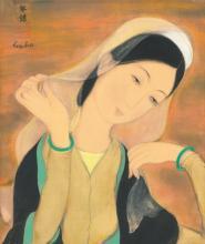 LE PHO (1907-2001) Jeune fille au voile blanc (Lady with a White Veil) ink