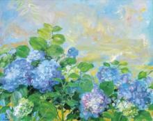 LE PHO (1907-2001) Les Hortensias Bleus (The Blue Hydrangeas) oil on canvas