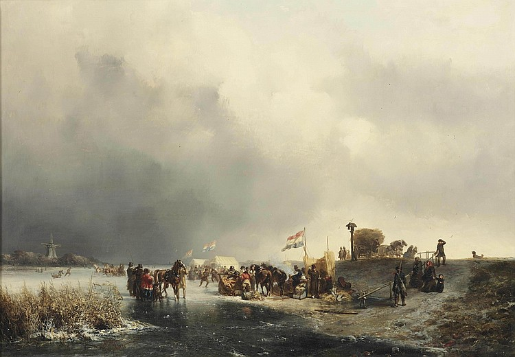 Johannes Franciscus Hoppenbrouwers (The Hague 1819-1866) and Charles Rochussen (Kralingen 1814-1894 Rotterdam)