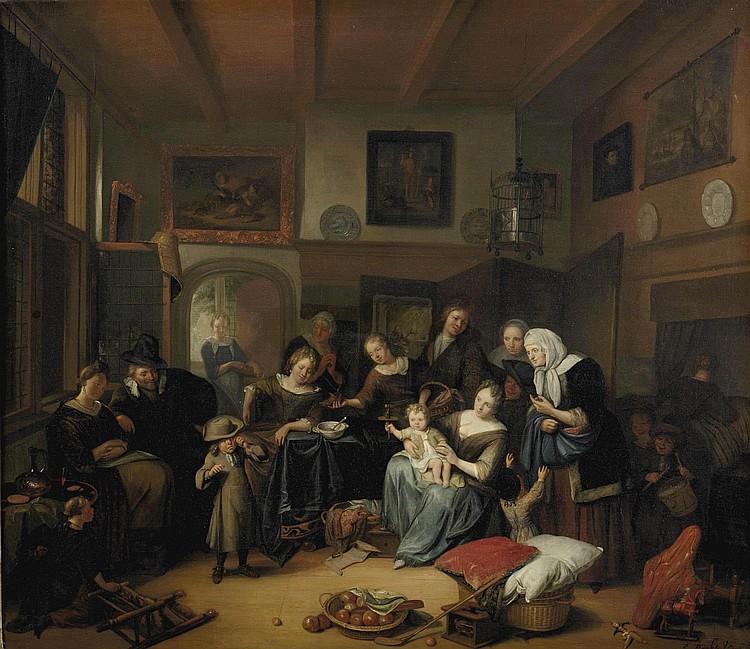 Richard Brakenburgh (Haarlem 1650-1702 Leeuwarden)