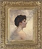 A young beauty in profile, Walter Blackman, Click for value
