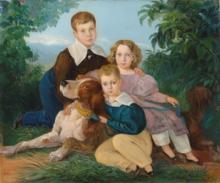 Johann Moritz Rugendas (Augsburg 1802-1858 Weilheim an der Teck) The children of the Renard family, Chile