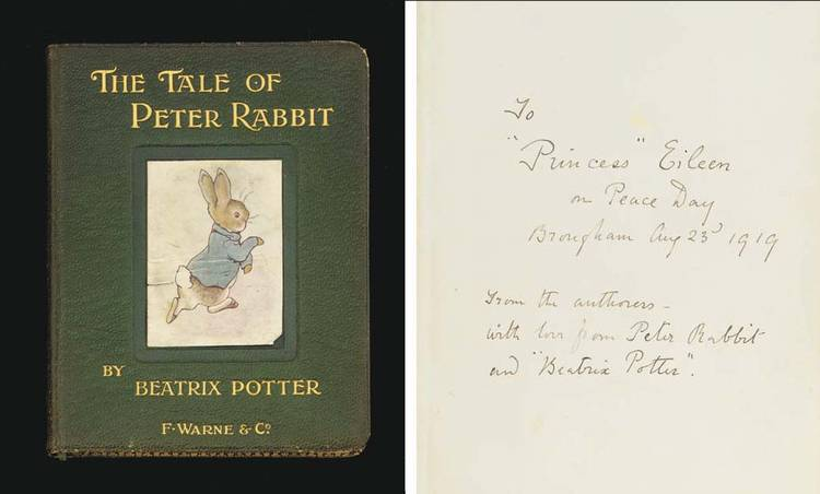 POTTER, Beatrix (1866-1943).  <I>The Tale of Peter Rabbit</I>, London: Frederick Warne & Co.