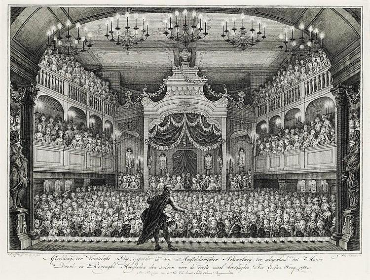 FLUSHING (or VLISSINGEN) 1751 -- HUET, Daniel Theodoor.  Inhuldiginge van... Willem Karel Hendrik Friso... Als Erf-Heer van Vlissingen.  Amsterdam: Isaak Tirion, 1753.