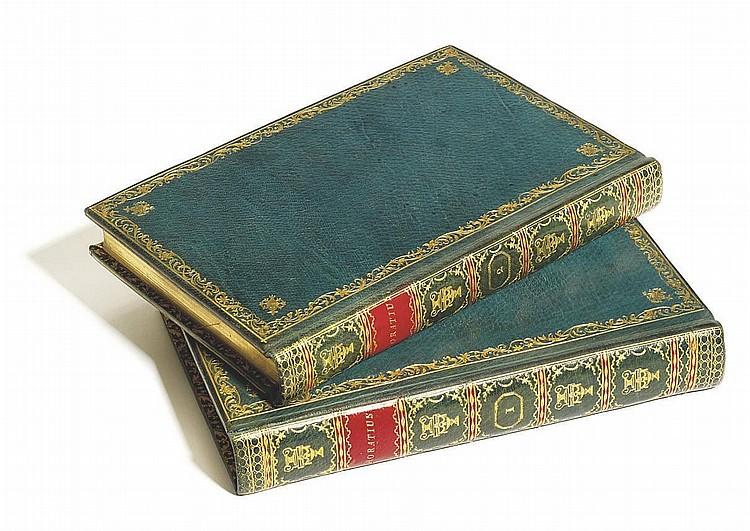 HORACE (65-8 B.C.) -- PINE, John, engraver (1690-1756).  Opera.  London: John Pine, 1733-1737.