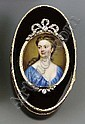 A GEORGE II GOLD-LINED COMPOSITION SNUFF-BOX SET WITH A PORTRAIT MINIATURE, Christian Friedrich Zincke, Click for value
