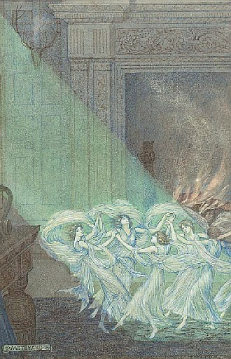Illustration to John Milton's poem At a Vacation Exercise