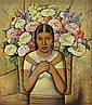 Vendedora de flores , Alfredo Ramos Martinez, Click for value