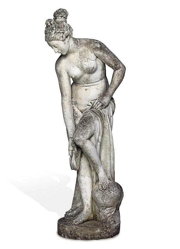 A COMPOSITE STONE MODEL OF 'VENUS AU BAIN'